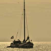 Boot op het Wad