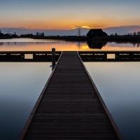 Nieuwe steiger Oldambtmeer